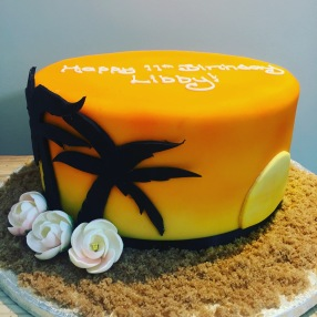 Tropical Sunset Cake